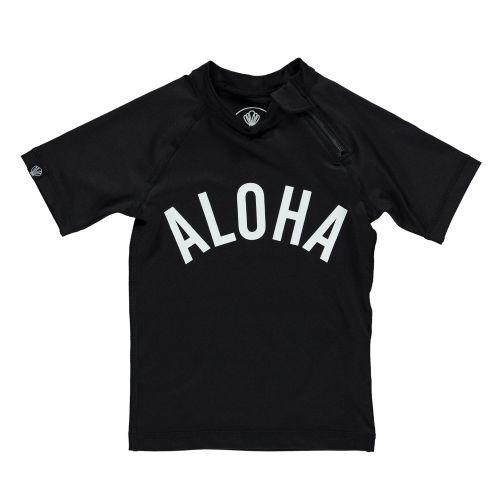 Beach-&-Bandits---UV-Badeshirt-für-Kinder---Aloha-Tee---Schwarz