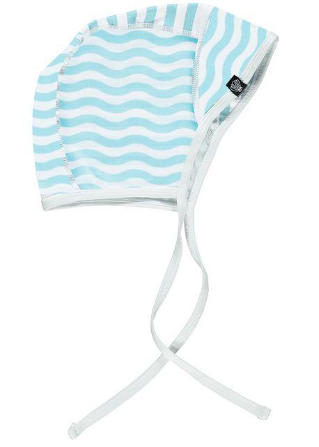 Beach-&-Bandits---UV-Mütze-für-Babys---Ocean-Child---Weiß/Blau