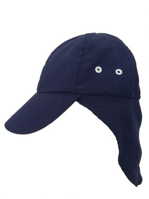 Rigon---UV-Sonnenkappe-für-Kinder-mit-Nackenschutz---Marineblau