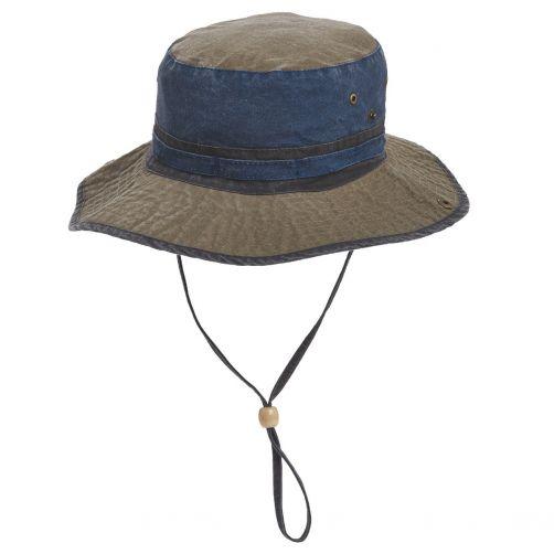 Dorfman-Pacific---UV-Schutz-Strandhut-für-Herren---Blau