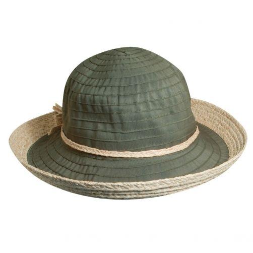Scala---UV-Hut-mit-Band-für-Damen---Olive