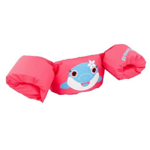Puddle-Jumpers---Größenverstellbare-Schwimmflügel-mit-Delphin---Pink