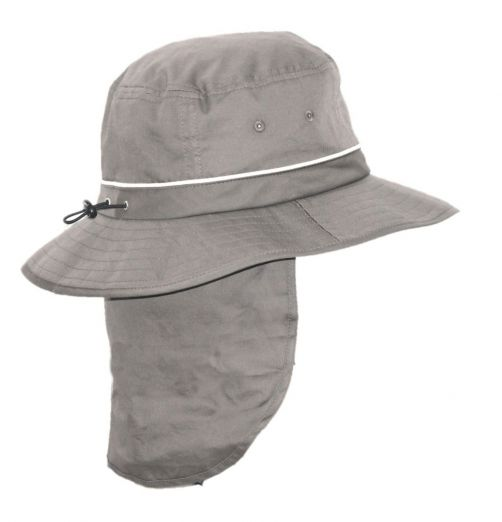 Rigon---UV-Bucket-Hut-für-Herren-mit-Nackenschutz---Grau